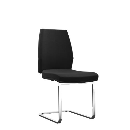 Rome Visitor Chair - Black Frame Black Fabric