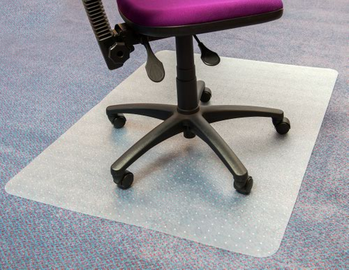 Low Pile Carpet Rectangular Chairmat Clear 1200 x 900