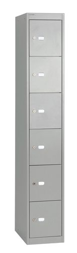Bisley 6 Door 30.5 Locker - Goose Grey