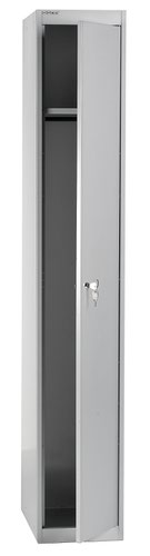 Bisley 1 Door 45.7 Wardrobe Locker - Goose Grey