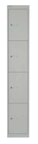 Bisley 4 Door 45.7 Locker - Goose Grey