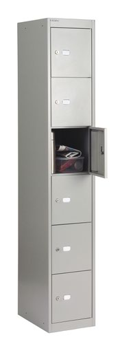 Bisley 6 Door 45.7 Locker - Goose Grey