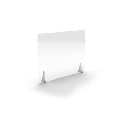 Jemini Free Standing Acrylic Screen 1000x700x4mm Clear COVFS1070CL