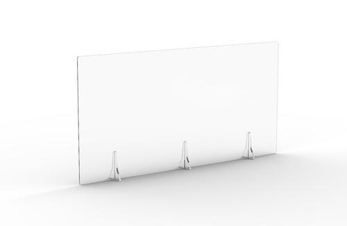 Free Standing Acrylic Screen 1400 x 700 x 4mm Clear