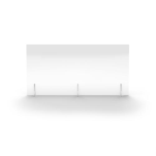 Clear Free Standing Acrylic Screen 1400mm (W) X 700mm (H) X 4mm (T)