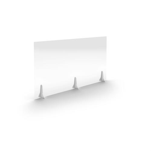 Jemini Free Standing Acrylic Screen 1400x700x4mm Clear COVFS1470CL