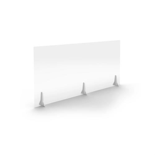 Jemini Free Standing Acrylic Screen 1600x700x4mm Clear COVFS1670CL