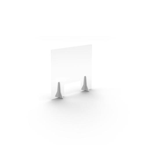 Jemini Free Standing Acrylic Screen 600x500x4mm Clear COVFS6050CL
