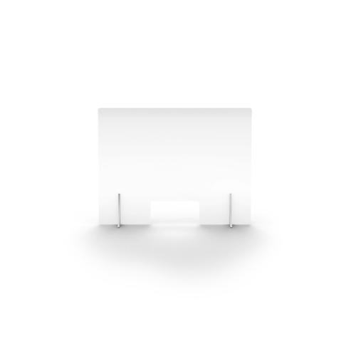 Clear Free Standing Acrylic Screen 780mm (W) X 600mm (H) X 4mm (T)