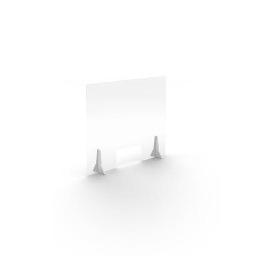 Jemini Free Standing Acrylic Screen 780x600x4mm Clear COVFS7860CL