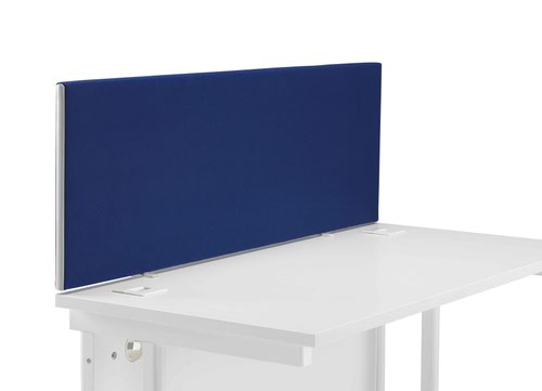 1200 Straight Upholstered Desktop Screen Royal Blue
