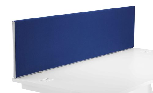 1800 Straight Upholstered Desktop Screen Royal Blue
