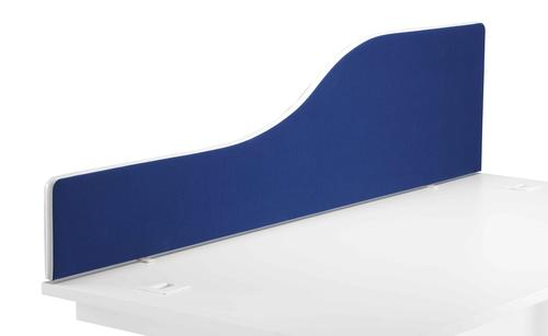 1800 Wave Upholstered Desktop Screen Royal Blue