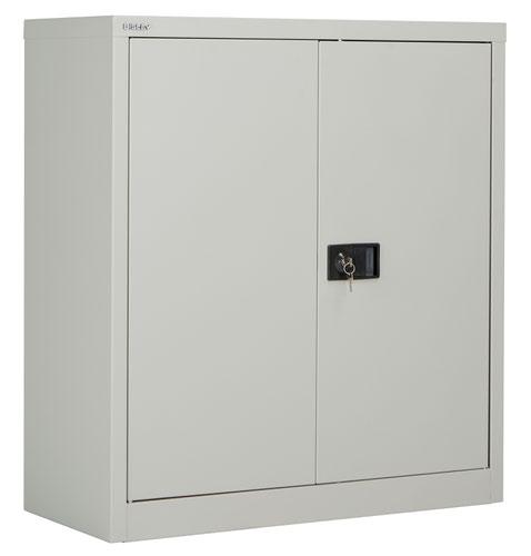 Bisley Steel Double Door Contract Cupboard Inc 1 Shelf - Goose Grey
