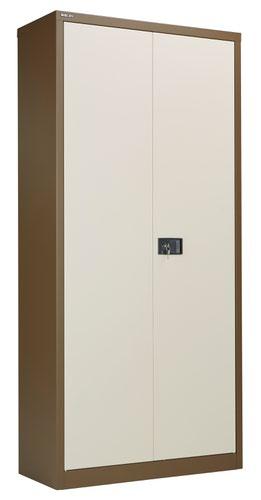 Bisley Steel Double Door Contract Cupboard Inc 4 Shelves - Coffee Cream