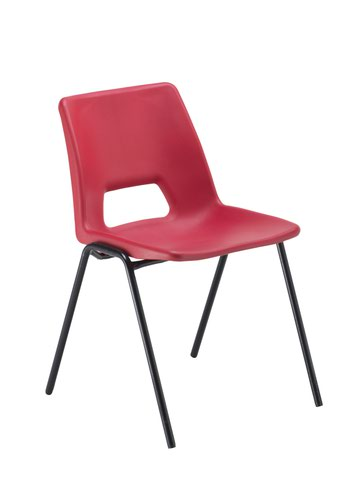 Economy Polypropylene Chair - Red