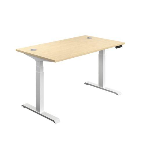 Economy Sit Stand Desk 1400 X 800 Maple-White