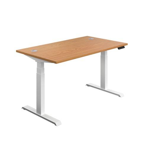Economy Sit Stand Desk 1400 X 800 Nova Oak-White