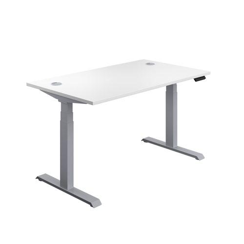 Economy Sit Stand Desk 1400 X 800 White-Silver