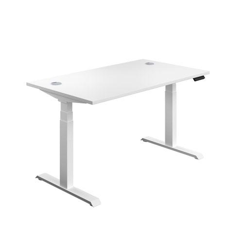 Economy Sit Stand Desk 1800 X 800 White-White