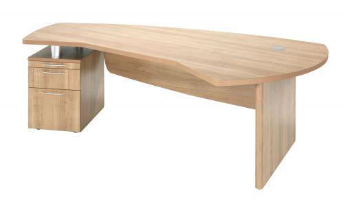 E Space Executive Desk Cappuccino - 2 Drawer