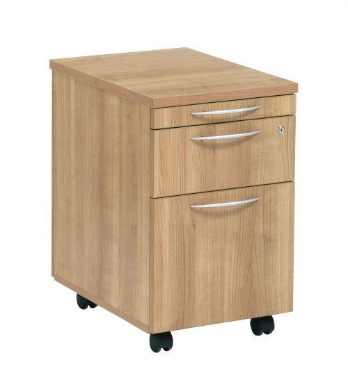 E Space Executive 2 Drawer Mobile Pedestal - Cappuccino