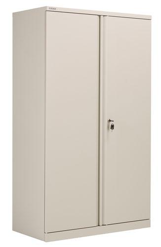 Bisley Essentials Steel Double Door 1585 Cupboard - Goose Grey