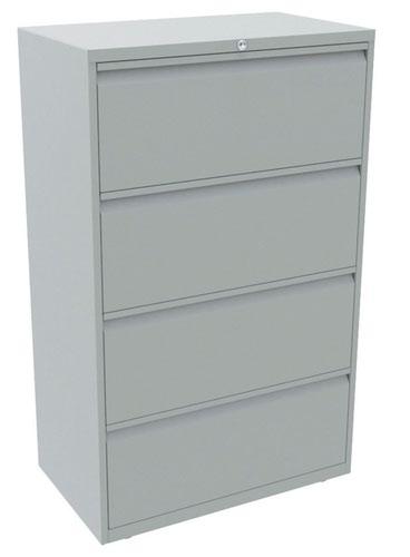 Bisley 4 Drawer Essentials Steel Side Filer - Light Grey