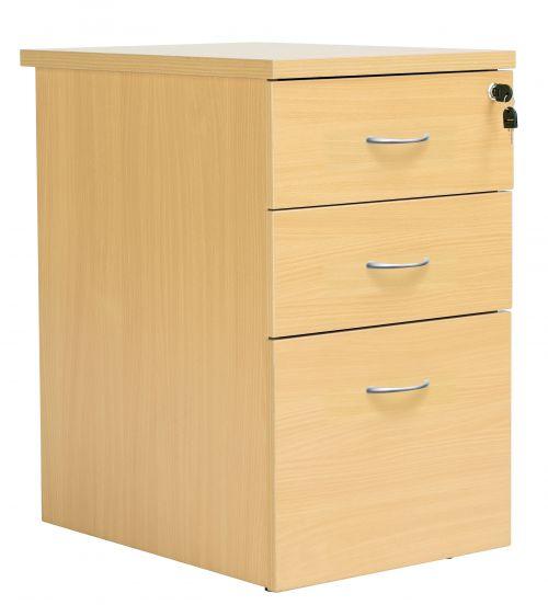Eco 18 Desk High 800D Ped Oak