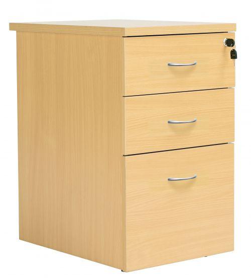 Eco 18 Desk High 600D Ped Oak