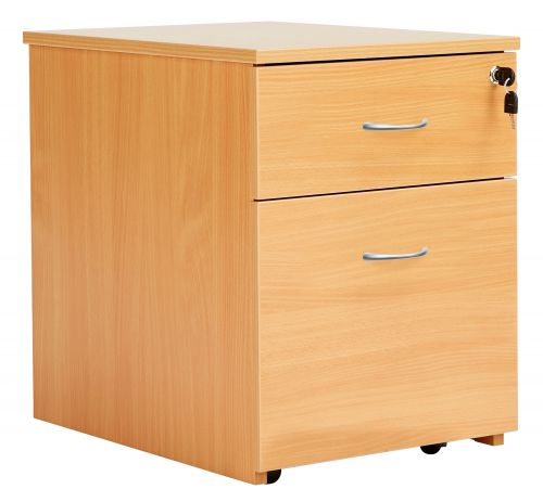 Eco 18 2 Drawer Mobile Pedestal Beech