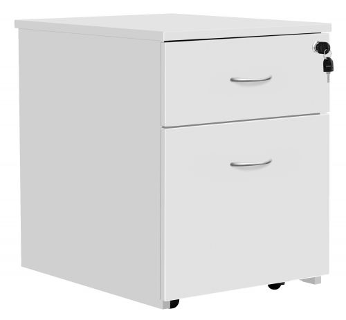 Serrion Eco 18 2 Drawer Mobile Pedestal White KF79825