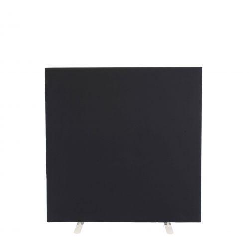 1200W X 1200H Upholstered Floor Standing Screen Straight Black