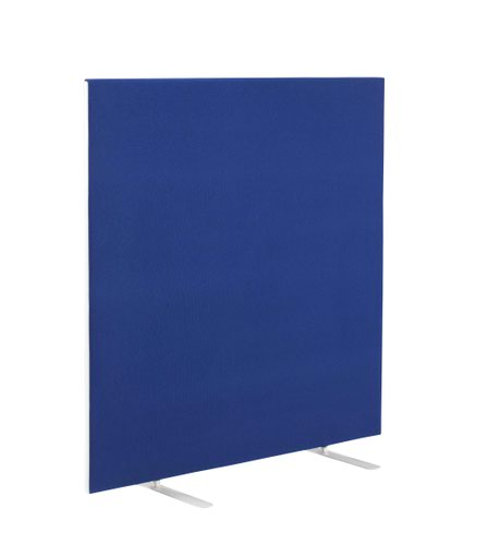 1200W X 1200H Upholstered Floor Standing Screen Straight Royal Blue