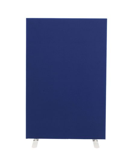 1200W X 1600H Upholstered Floor Standing Screen Straight Royal Blue