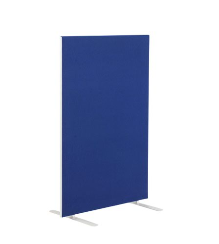 1400W X 1800H Upholstered Floor Standing Screen Straight Royal Blue