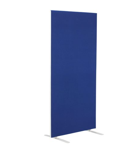 1200W X 1800H Upholstered Floor Standing Screen Straight Royal Blue