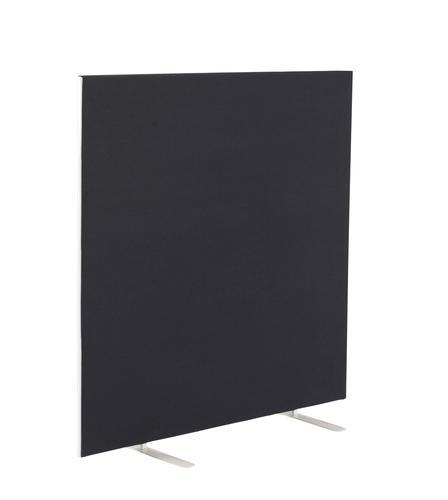 1400W X 1200H Upholstered Floor Standing Screen Straight Black