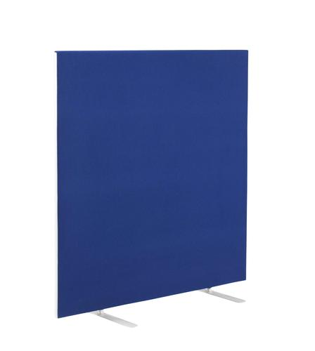 1400W X 1200H Upholstered Floor Standing Screen Straight Royal Blue