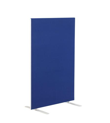 1400W X 1600H Upholstered Floor Standing Screen Straight Royal Blue