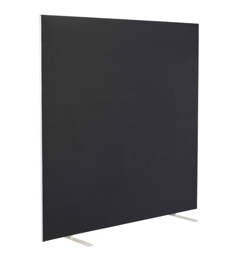 1600W X 1600H Upholstered Floor Standing Screen Straight Black