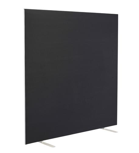 1600W X 1800H Upholstered Floor Standing Screen Straight Black