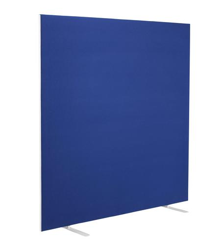 1600W X 1800H Upholstered Floor Standing Screen Straight Royal Blue