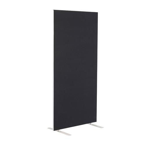 800W X 1800H Upholstered Floor Standing Screen Straight - Black