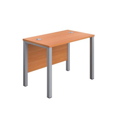 1000X600 Goal Post Rectangular Desk Beech-Silver