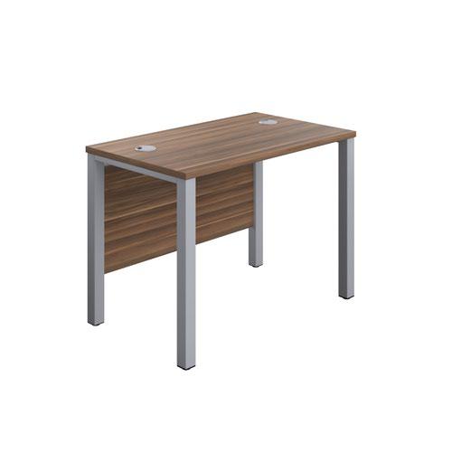 1000X600 Goal Post Rectangular Desk Dark Walnut-Silver