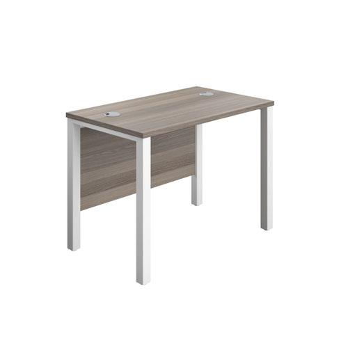 1000X600 Goal Post Rectangular Desk Grey Oak-White