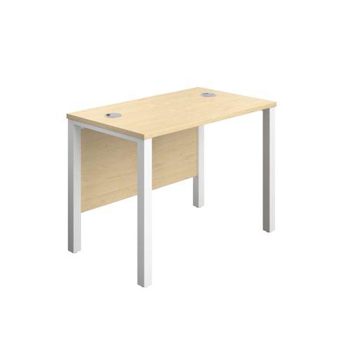 1000X600 Goal Post Rectangular Desk Maple-White