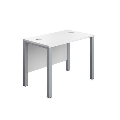 1000X600 Goal Post Rectangular Desk White-Silver
