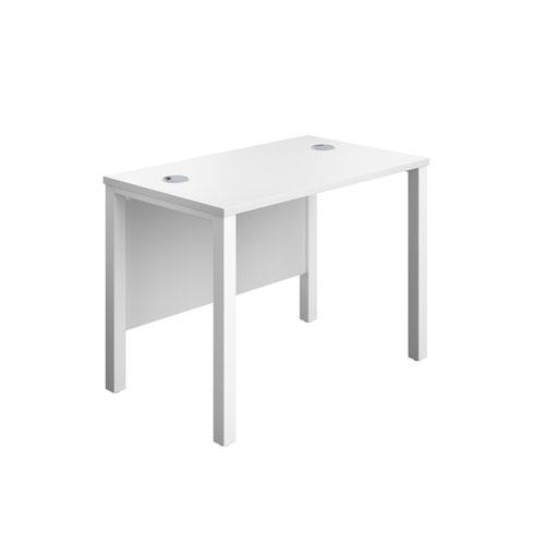 Jemini Rectangular Goal Post Desk 1000x600x730mm White/White KF821434